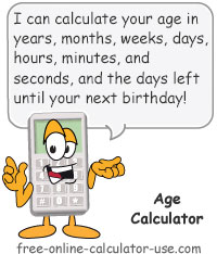 Calcy sign introducing Age Calculator