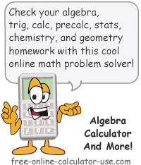 online algebra calculator for solving all types of math problems