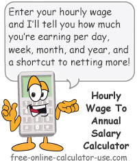 Calcy sign introducing Annual Salary Calculator