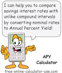 Annual Percentage Yield Calculator Sign