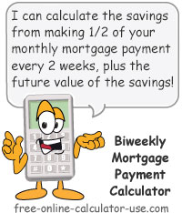 Biweekly Mortgage Payment Calculator Sign