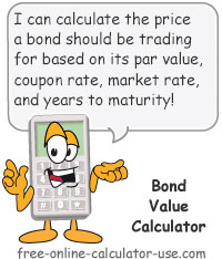 bond value calculator coupon rate