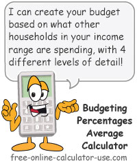 Calcy sign introducing Budgeting Percentages Average Calculator