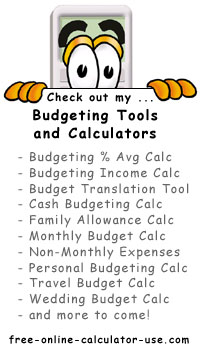 Calcy sign introducing Free Online Budget Tools
