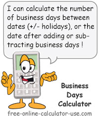 business day calculator sign
