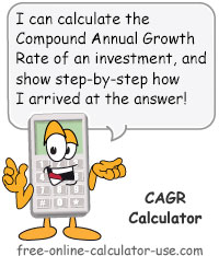 Calcy sign introducing CAGR Calculator