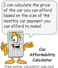 Calcy sign introducing Car Affordability Calculator