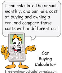 Calcy sign introducing Car Buying Calculator