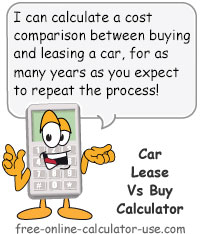 Car Lease vs Buy Calculator with Lifetime Cost Comparison