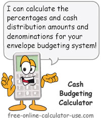 Calcy sign introducing Cash Budgeting Calculator