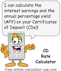 Certificate of Deposit Rate Calculator Sign