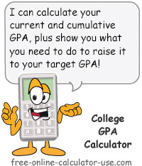Calcy sign introducing College GPA Calculator