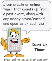 Count Up Timer Sign