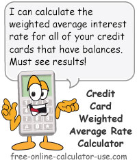 Calcy sign introducing Credit Card Interest Rate Calculator