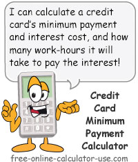 Credit Card Minimum Payment Calculator Sign