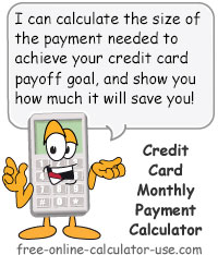 Credit Card Monthly Payment Calculator Sign