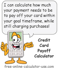 Credit Card Payoff Calculator Sign