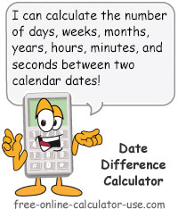 Date Difference Calculator Sign