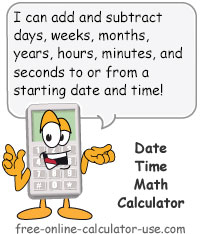 Date Time Calculator Sign