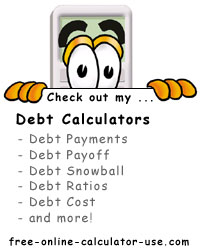 Calcy sign listing Free Online Debt Calculators