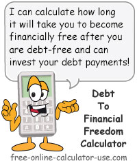 Financial Freedom Calculator Sign