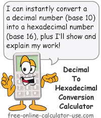 Calcy sign introducing Decimal to Hex Converter