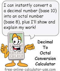 Calcy sign introducing Decimal to Octal Converter