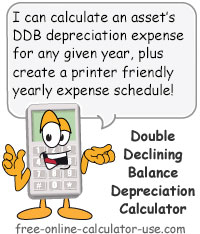 Double Declining Balance Calculator Sign