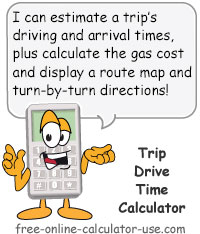 Calcy sign introducing Drive Time Calculator