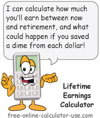Calcy sign introducing Lifetime Earnings Calculator