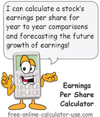 Calcy sign introducing Earnings Per Share Calculator