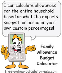 Calcy sign introducing Family Allowance Budget Calculator