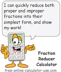 Calcy sign introducing Fraction Reducer Calculator