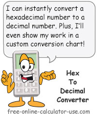 Calcy sign introducing Hex to Decimal Converter