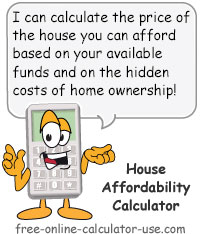 Calcy sign introducing House Affordability Calculator
