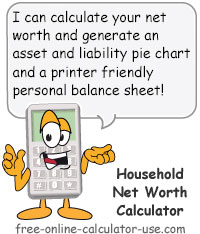 Household Net Worth Calculator Sign