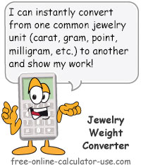 Jewelry Weight Converter To Convert