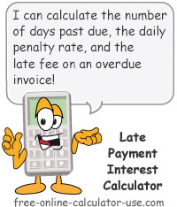 Late Payment Interest Calculator Sign