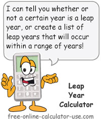 Calcy sign introducing Leap Year Calculator