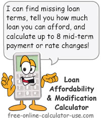 Calcy sign introducing Loan Affordability Calculator