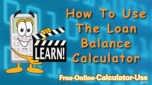 Image of Loan Balance Calculator video.