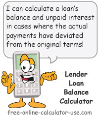 Monthly Loan Balance Calculator Sign