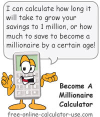 Free Online Diminished Value Calculator >> Become A Millionaire Calculator How Long Will It Take