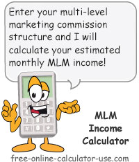 Calcy sign introducing MLM Income Calculator