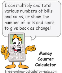 Money Counter Calculator Sign