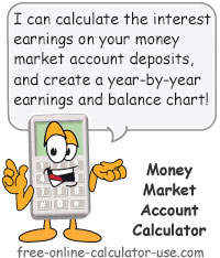 Calcy sign introducing Money Market Account Calculator