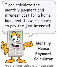 Calcy Sign Introducing Monthly House Payment Calculator