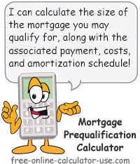 Calcy sign introducing Mortgage Prequalification Calculator