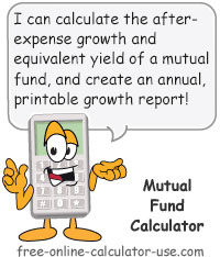 Calcy sign introducing Mutual Fund Calculator