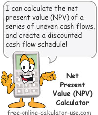 Net Present Value (NPV) Calculator Sign